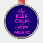 [Dancing crown] keep calm and love music  Ornaments