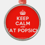 [Crown] keep calm and eat popsick  Ornaments