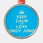 [Crown] keep calm and love coboy junior  Ornaments