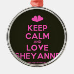 [Two hearts] keep calm and love sheyanne  Ornaments