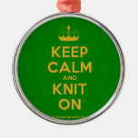 [Knitting crown] keep calm and knit on  Ornaments