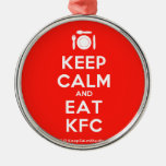 [Cutlery and plate] keep calm and eat kfc  Ornaments
