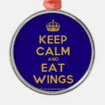 [Crown] keep calm and eat wings  Ornaments