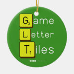 Game Letter Tiles  Ornaments