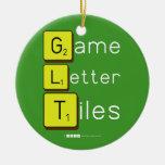 Game Letter Tiles  Ornaments