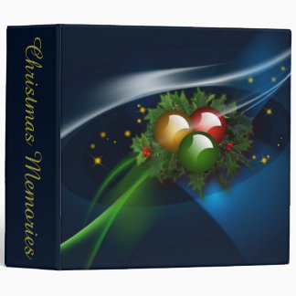 Ornaments and Holly Binder