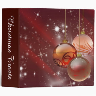 Ornaments and Stars 3 Ring Binder