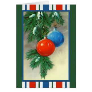 Ornaments Christmas Card