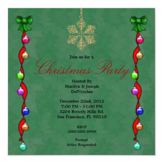 Ornaments CUTE Christmas Party Holiday Invite