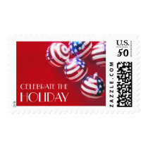Ornaments decorated with American flag Postage