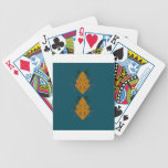 Ornaments gold blue bicycle playing cards