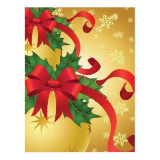 Ornaments (gold) postcard