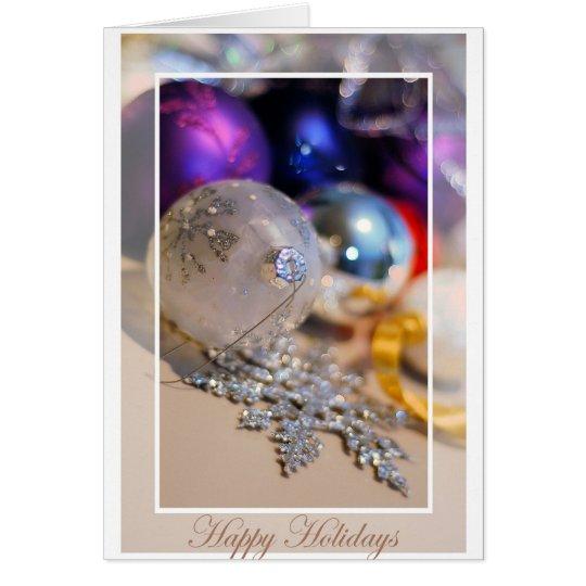 Ornaments - Happy Holidays2 - Blank Inside Card
