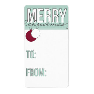 Ornaments Holiday Gift Tag Shipping Label