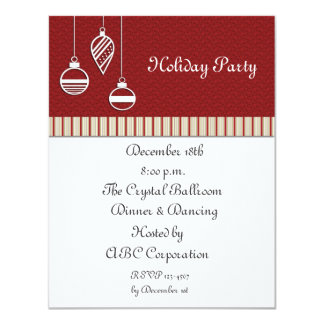Ornaments Holiday Party Card