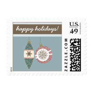 Ornaments Holiday Postage (blue)