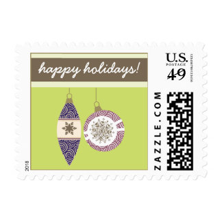 Ornaments Holiday Postage (olive)