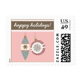 Ornaments Holiday Postage (pink)