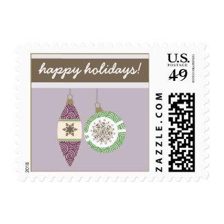 Ornaments Holiday Postage (purple)