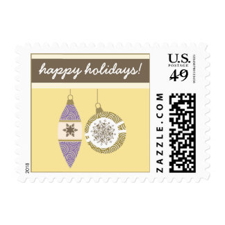 Ornaments Holiday Postage (yellow)