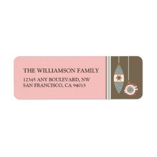 Ornaments Holiday Return Address Labels (pink)