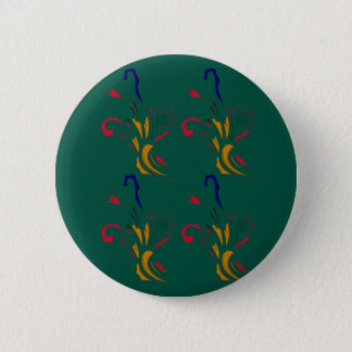 Ornaments luxury gold green button