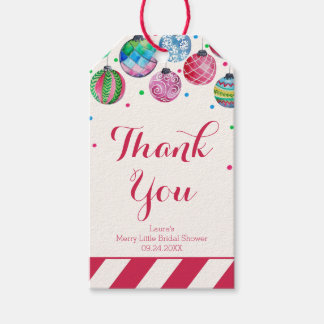 Ornaments Merry Little Bridal Shower Thank You Gift Tags