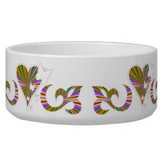 Ornaments Rainbow Heart with Lily and Butterfly Bowl