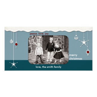 Ornaments Snow Christmas Greeting Customized Photo Card