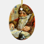Ornaments Vintage Santa Claus makes List Christmas