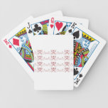 Ornaments white  red  Folk Bicycle Playing Cards