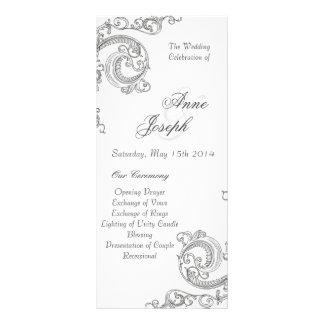 Ornaments white wedding program III