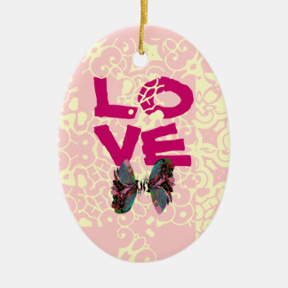 ORNAMNETS FOR HOLIDAYS FUN Double-Sided OVAL CERAMIC CHRISTMAS ORNAMENT