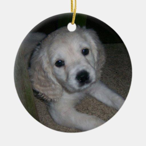 ornanement lindo del perrito ornamento para arbol de navidad