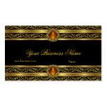 Ornate Amber Gold Black Elegant Classy Jewel Image Business Card Templates