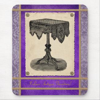 Ornate Antique Table Victorian Furniture Mousepad