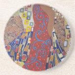 ornate art deco (painting) drink coaster