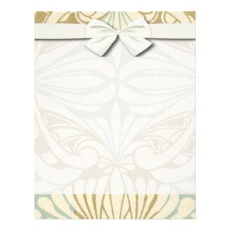 ornate art nouveau style abstract pattern flyer