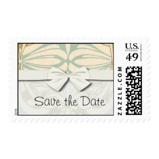 ornate art nouveau style abstract pattern postage
