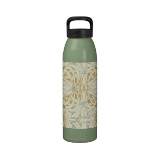 ornate art nouveau style abstract pattern drinking bottle