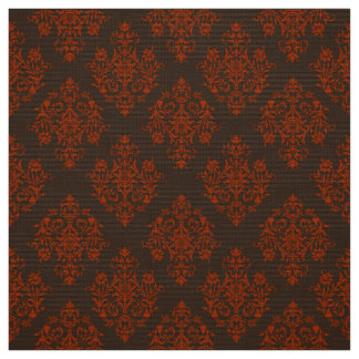 Ornate Baroque brown Damask pattern fabric