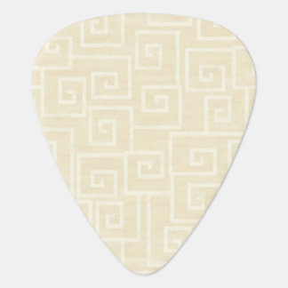 Ornate Beige Guitar Pick