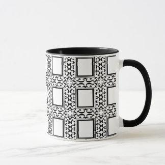 Ornate Black and White Mug