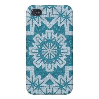 Ornate Blue Cover For iPhone 4