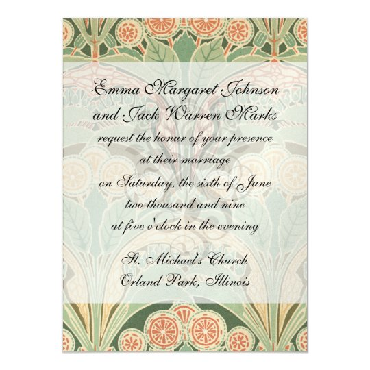 ornate bontanical garden art nouveau art card