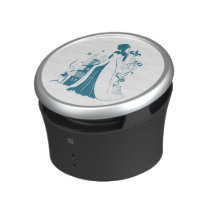 Ornate Bride Silhouette, flowers and gothic castle Bluetooth Speaker