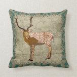 Ornate Bronze Buck  Boho Mojo Pillow