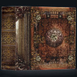 "Ornate Brown Faux Leather Medieval Ancient Tome 3 Ring Binder<br><div class=""desc"">Ornate scrollwork,  bejeweled detail,  and faux aged leather create a truly authentic looking"