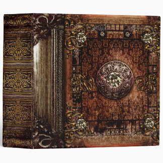 Ornate Brown Faux Leather Medieval Ancient Tome 3 Ring Binder