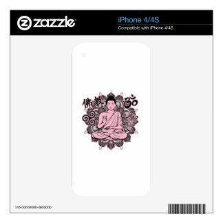 Ornate Buddha Decal For iPhone 4